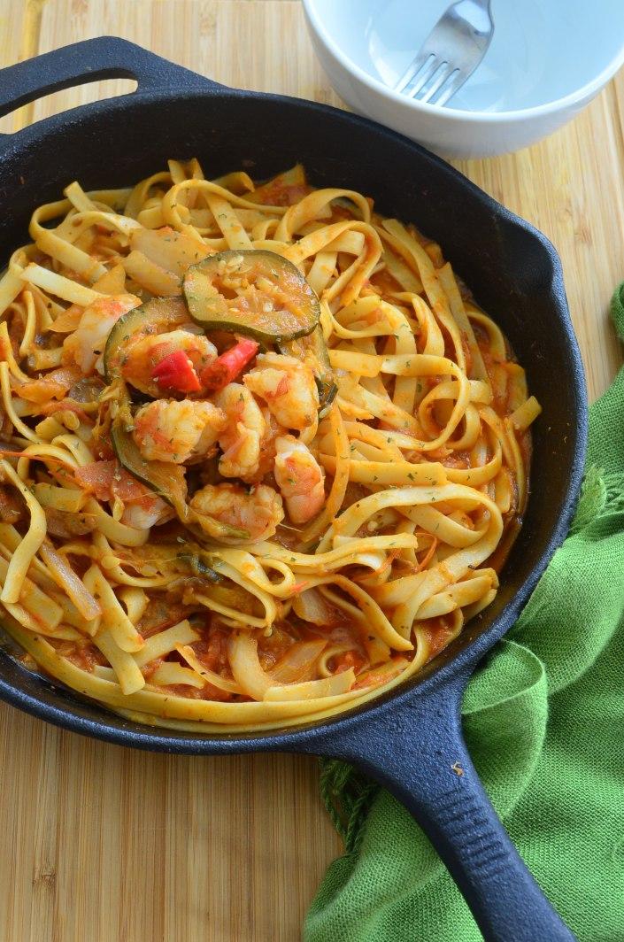 Shrimp Ratatouille Pasta Recipe