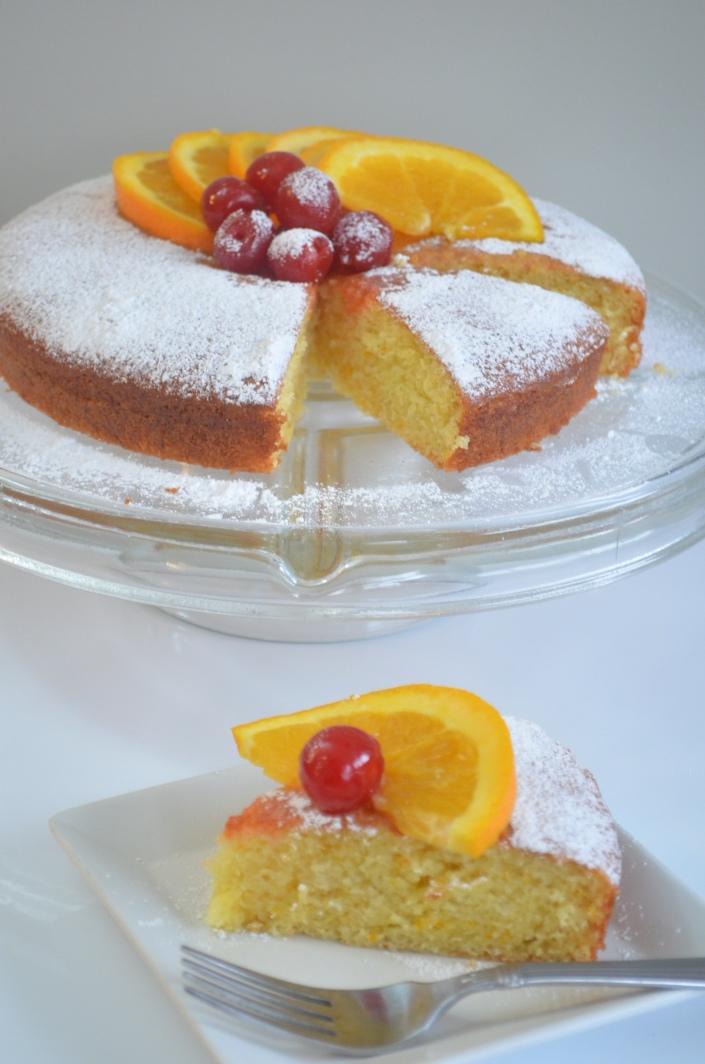 Eggless & Butterless Orange Sponge Cake Recipe