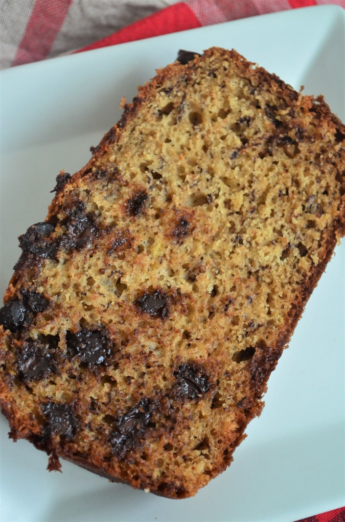 Moist Chocolate Chip Banana Bread By SweetNSpicyLiving.com