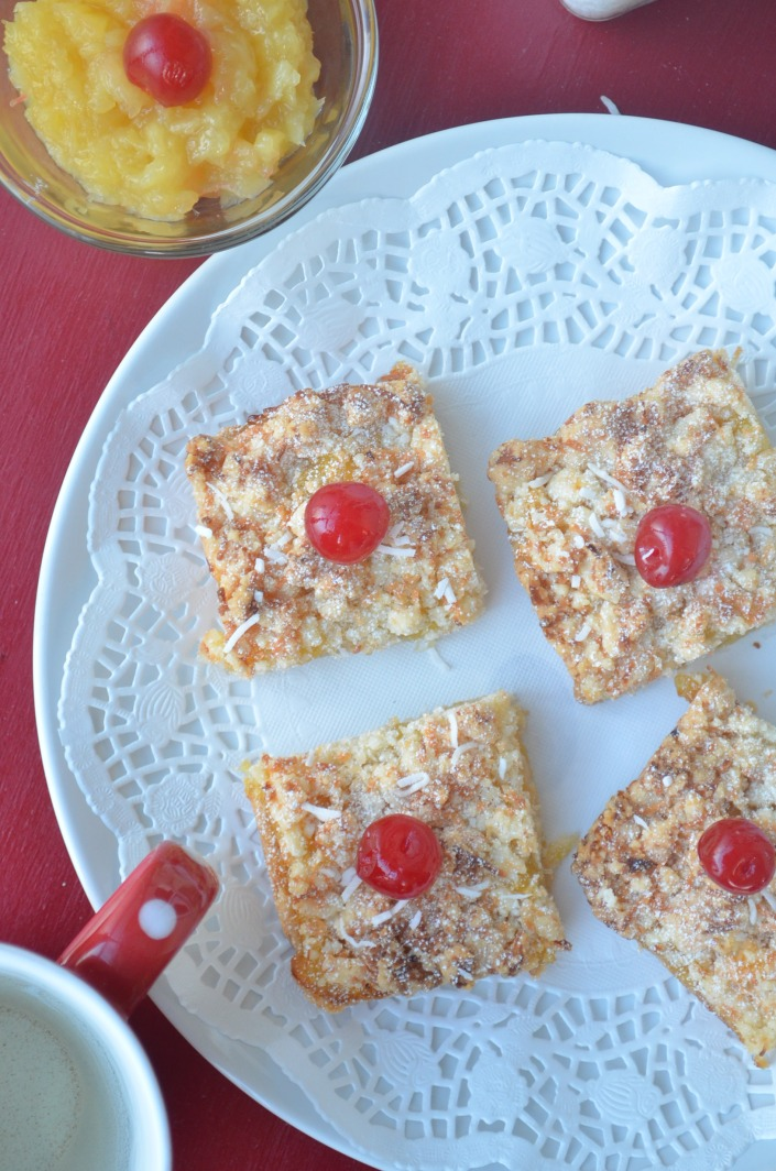 Pina Colada Crumble Bars (Small batch)