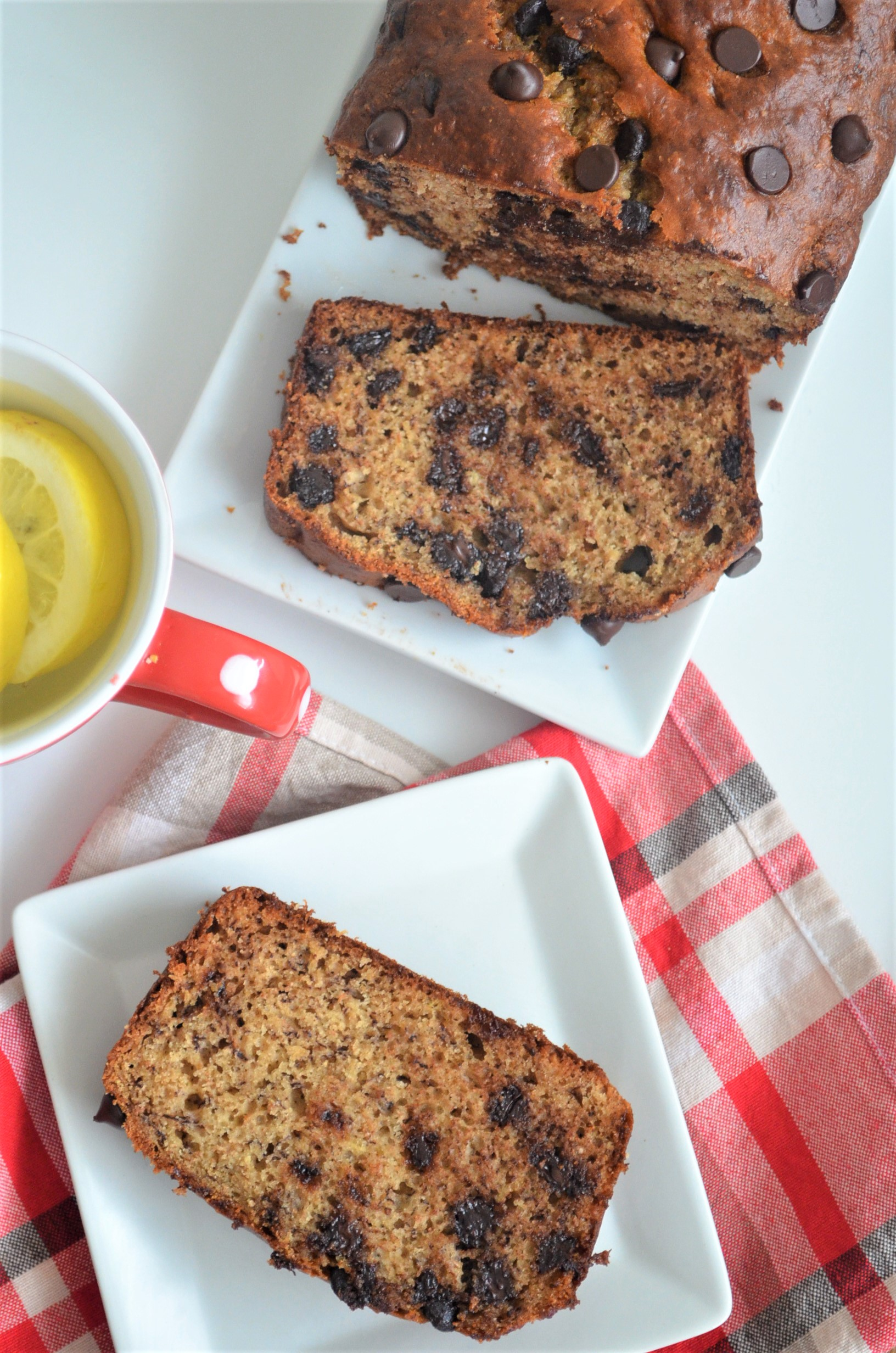 Secret to Moist Chocolate Chip Banana Bread By SweetNSpicyLiving.com