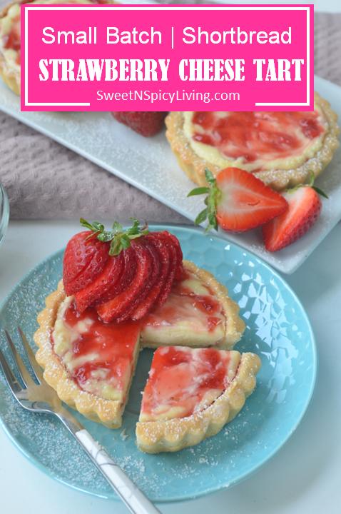Strawberry Shortbread Cheese Tart 2