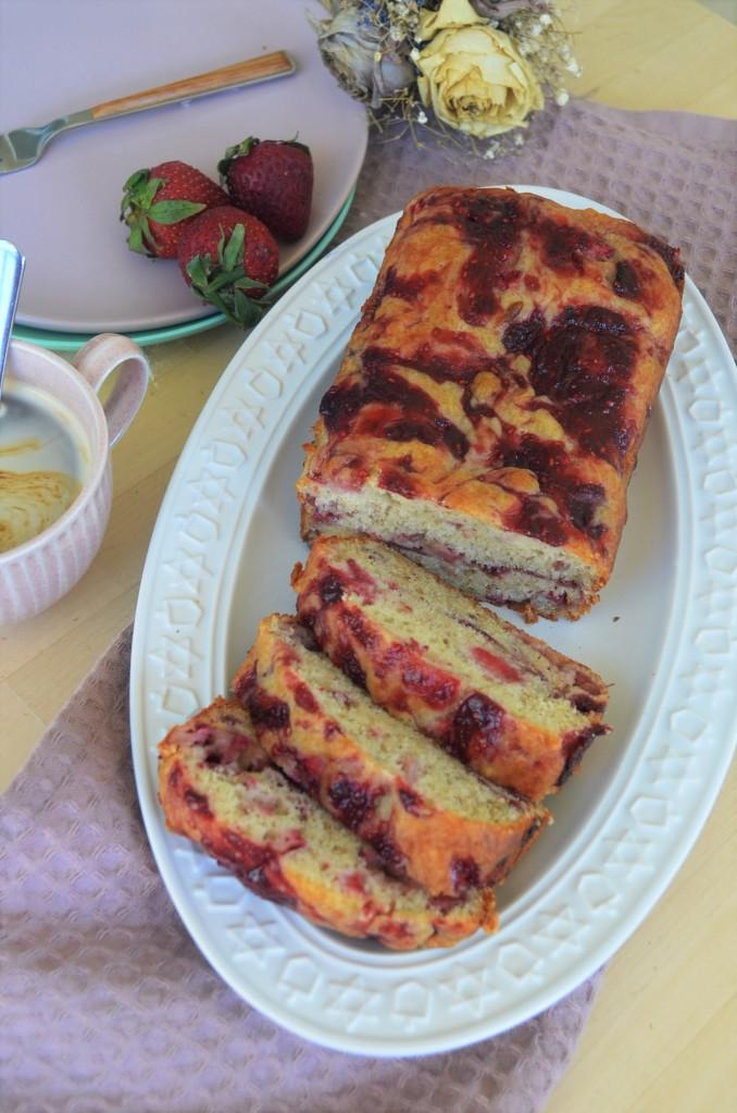 Strawberrry Banana Bread By SweetNSpicyLiving