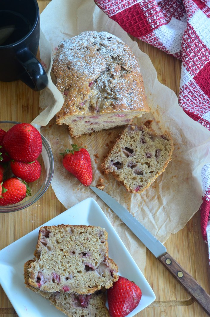 Super Easy Strawberry Banana Bread