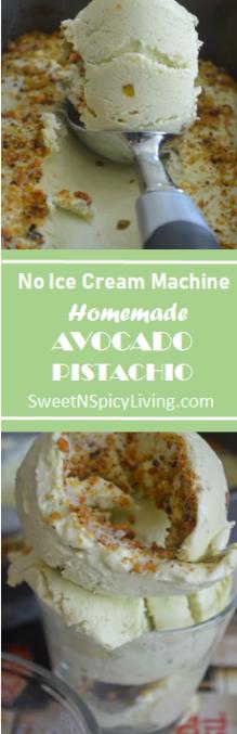 Avocado Pistachio Ice Cream