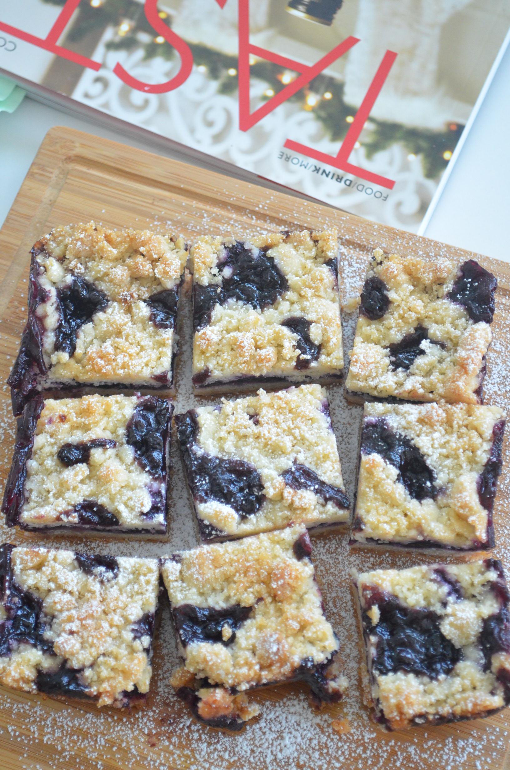 Blueberry Crumb Bars Small Batch