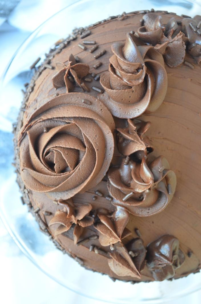 Double Chocolate Cake Recipe with Chocolate Ganache