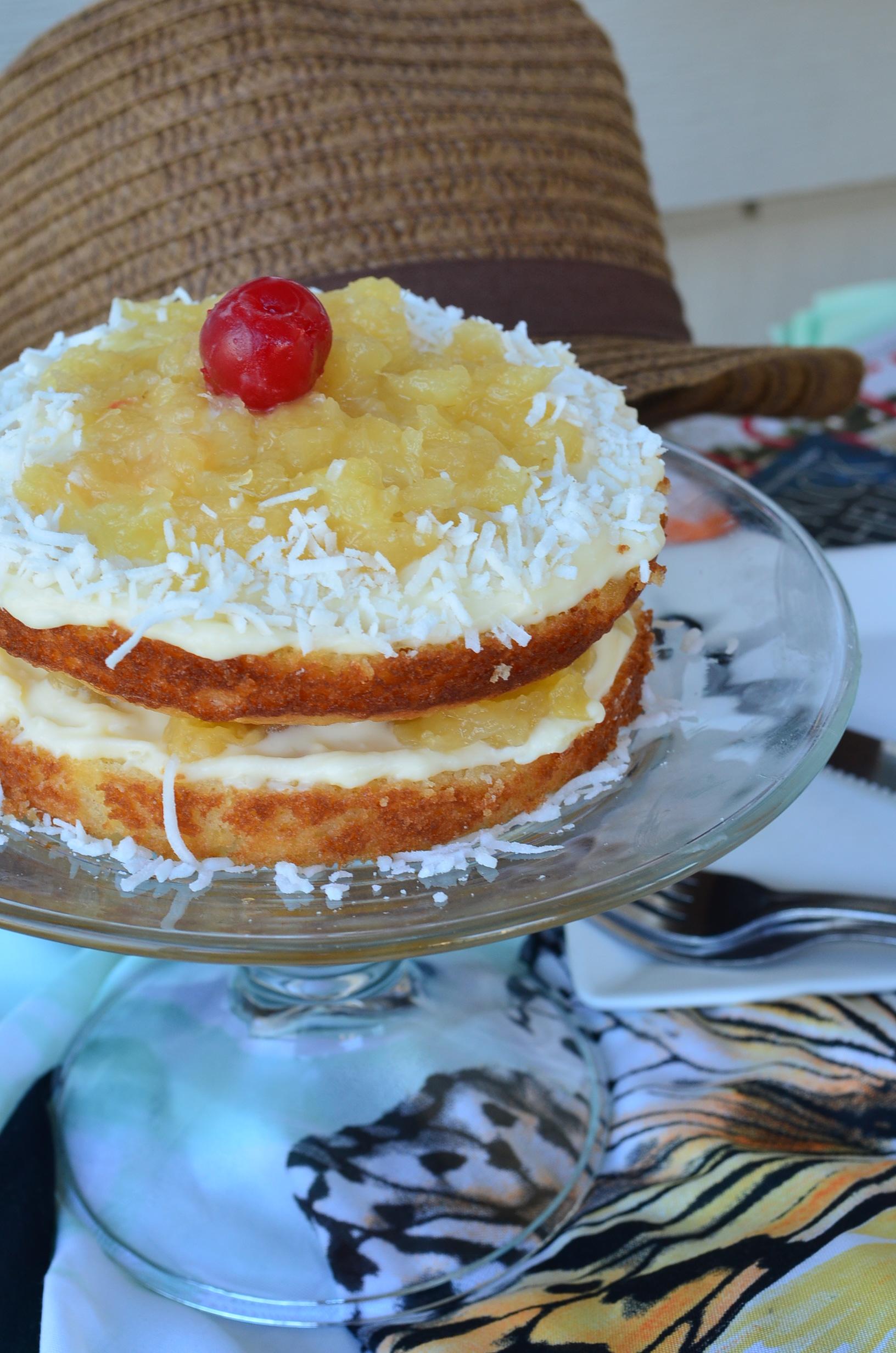Small Batch Piña Colada Cake
