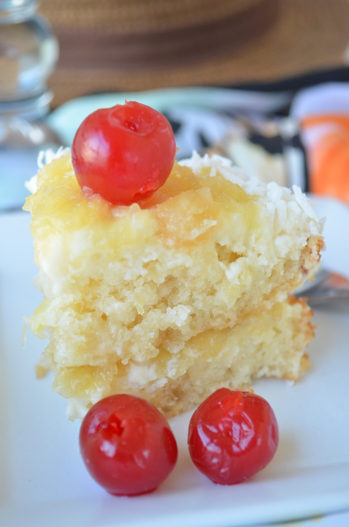 Small Batch Piña Colada Cake