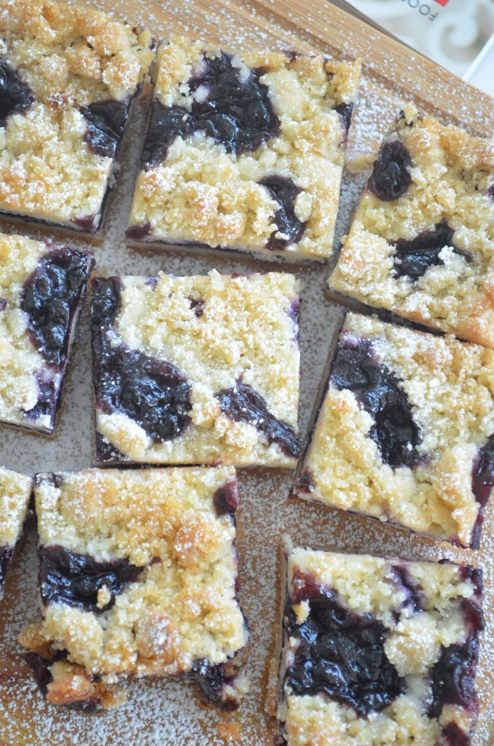 Small Batch Blueberry Crumb Bars
