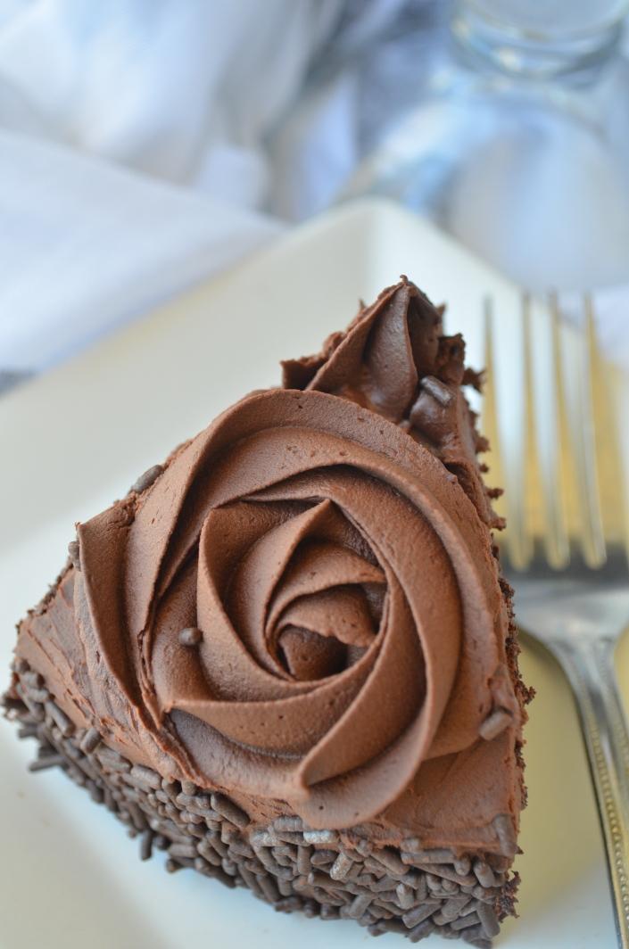 Small Batch Chocolate Cake with Chocolate Ganache