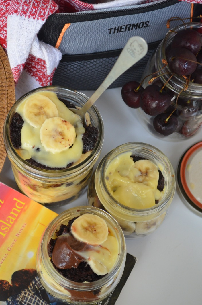 Small Batch Chocolate Trifle in Mason Jar