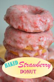 Baked Strawberry Donut