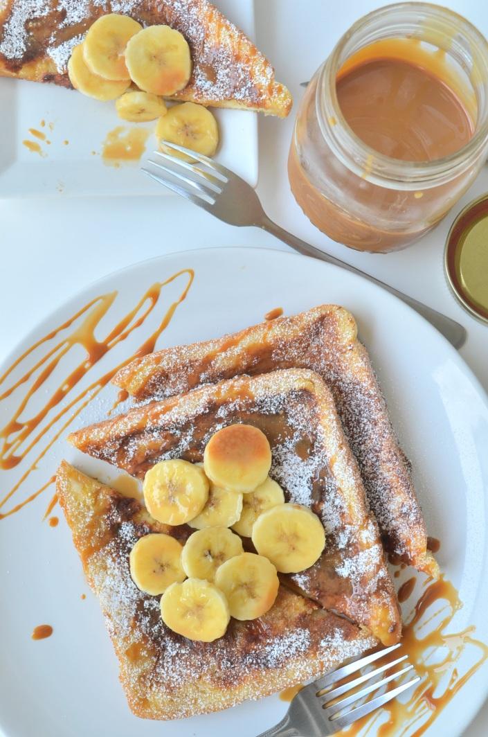 Banana Caramel French Toast