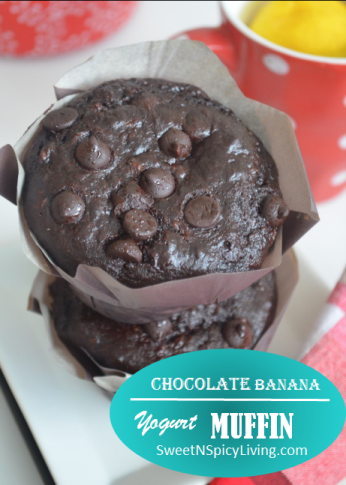 Chocolate Banana Yogurt Muffin
