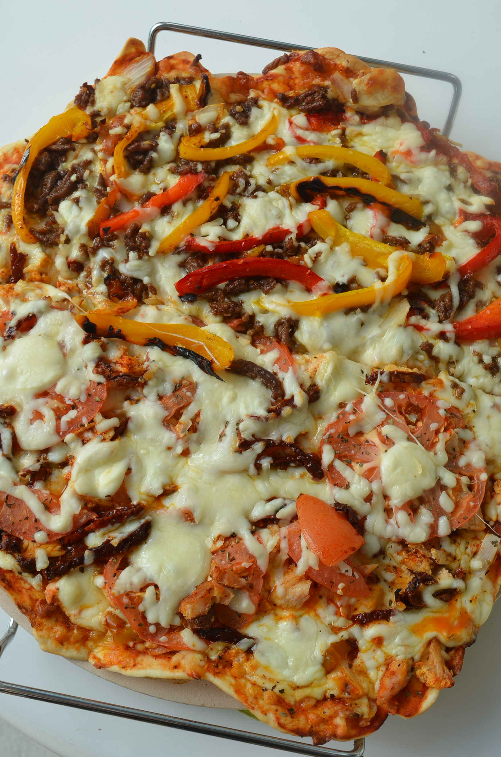 Homemade Meat Lovers Pizza