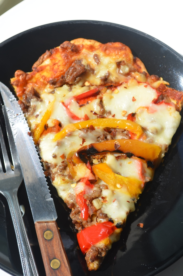 Grilled Homemade Meat Lovers Pizza