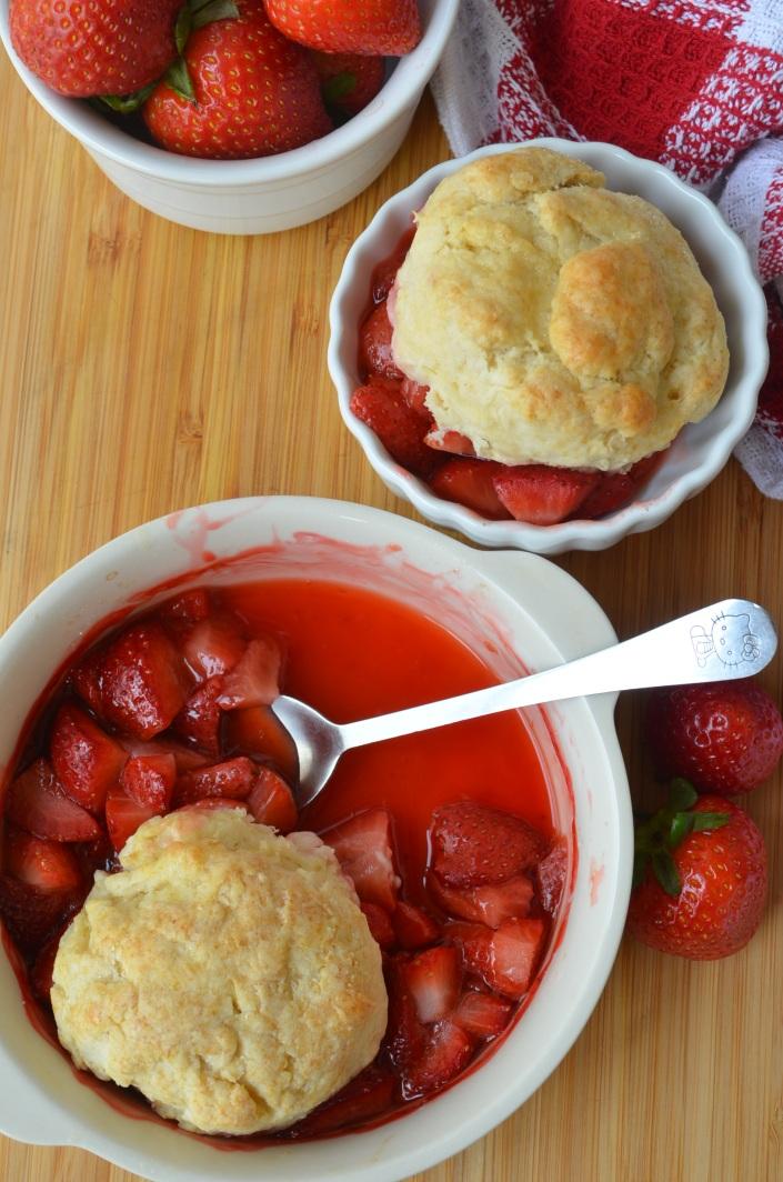 Strawberry Cobbler Small Batch