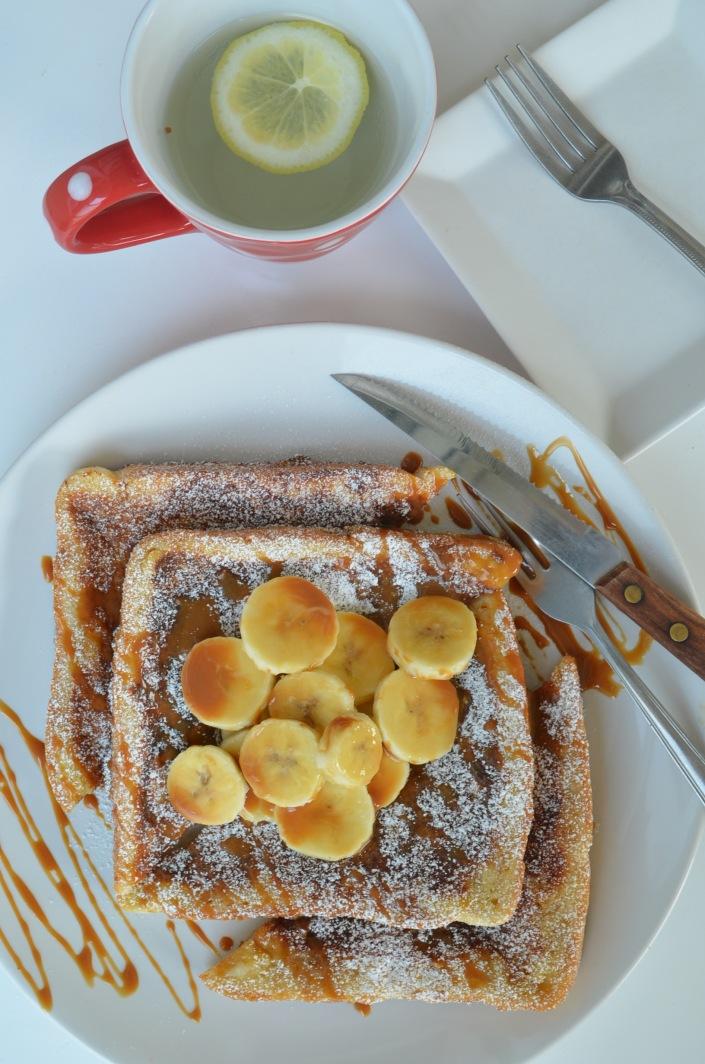 Caramel Banana French Toast Recipe