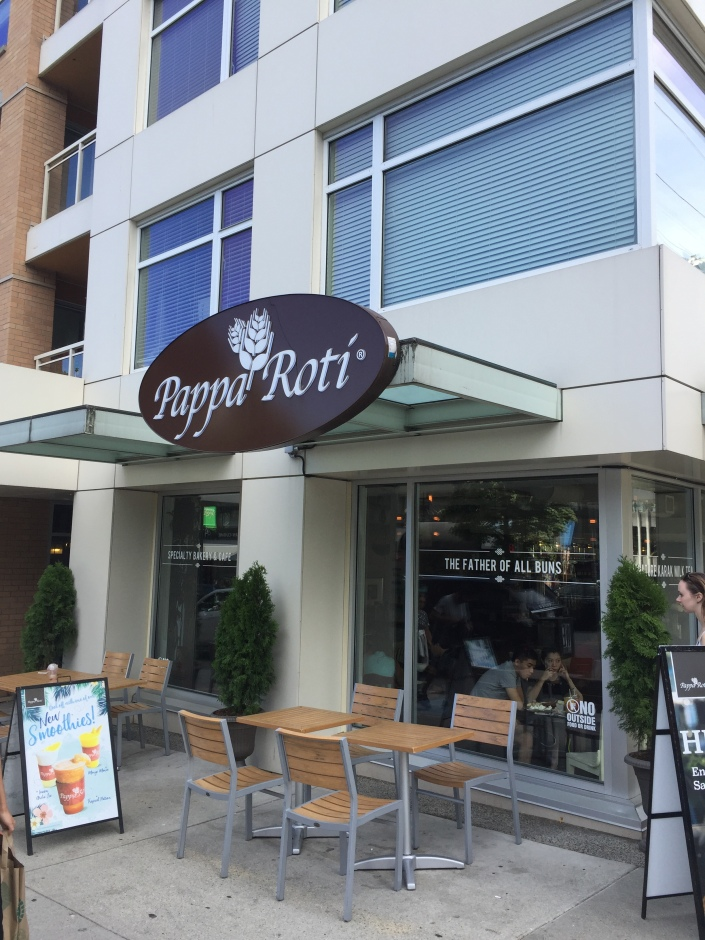 Pappa Roti Cafe, Downtown Vancouver BC