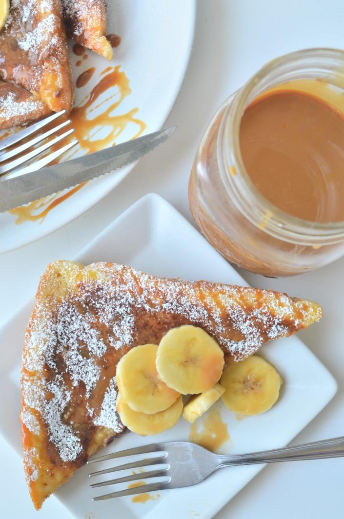 Small Batch Banana Caramel French Toast