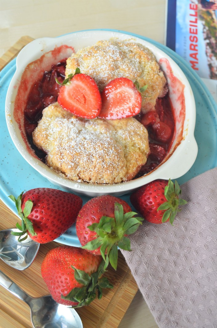 Small Batch Strawberry Cobbler