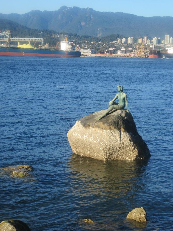 Stanley Park Girl in Wetsuit Statue