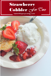 Strawberry Cobbler For Two 2