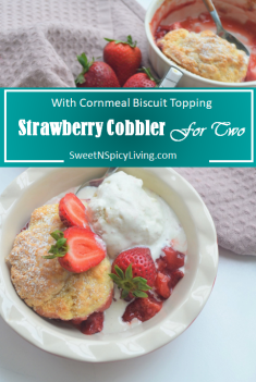 Strawberry Cobbler For Two 3