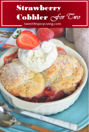 Strawberry Cobbler For Two 4