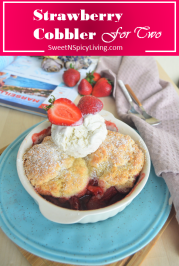 Strawberry Cobbler For Two