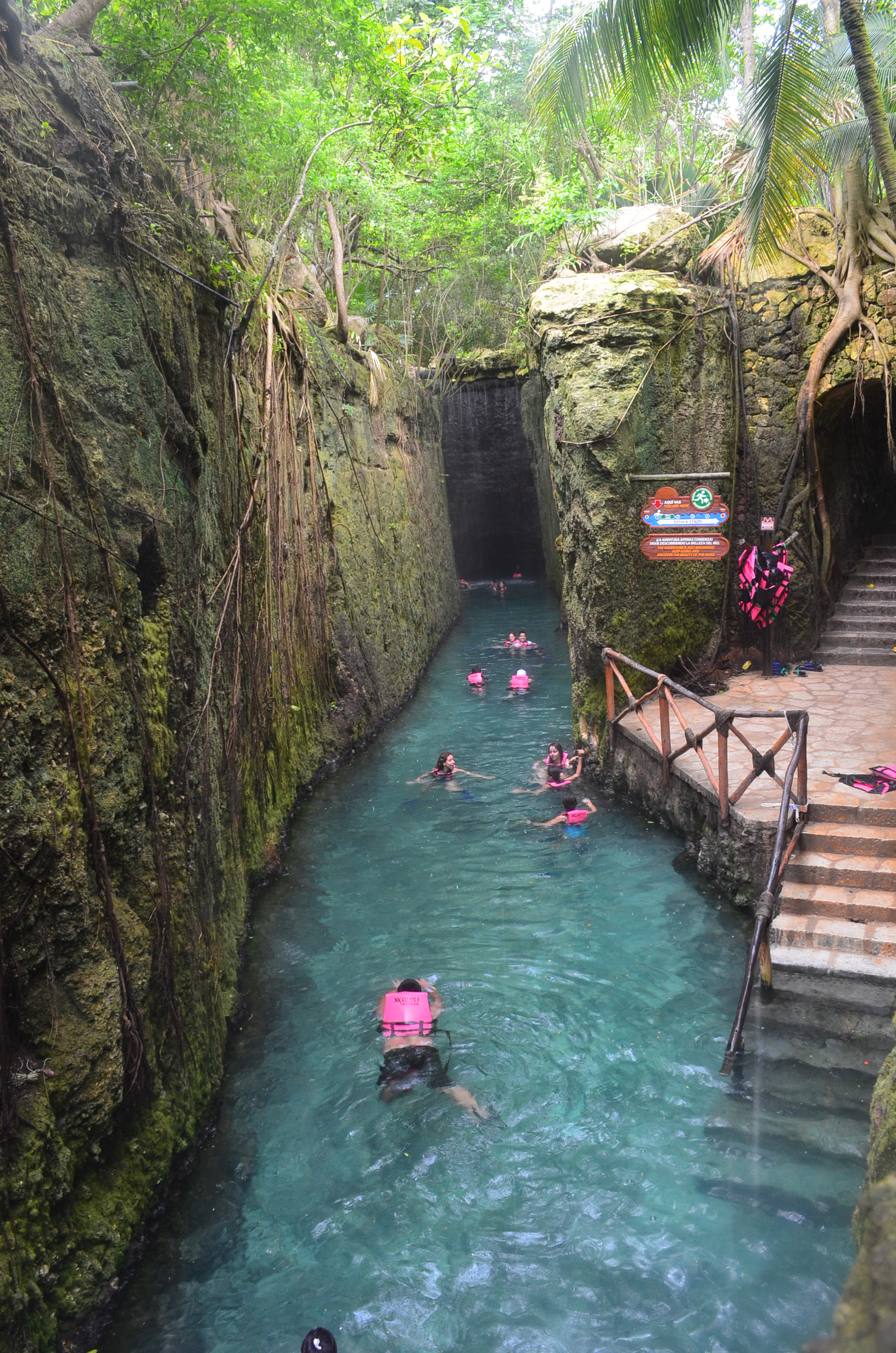 Underground Rivers Xcaret Mexico