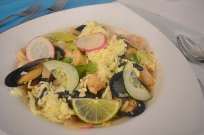Seafoods Casserole at El Pescador