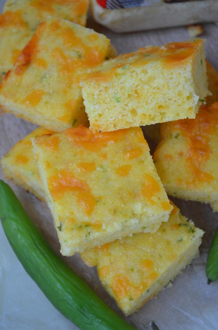 Small Batch Jalapeño Parmesan Cornbread