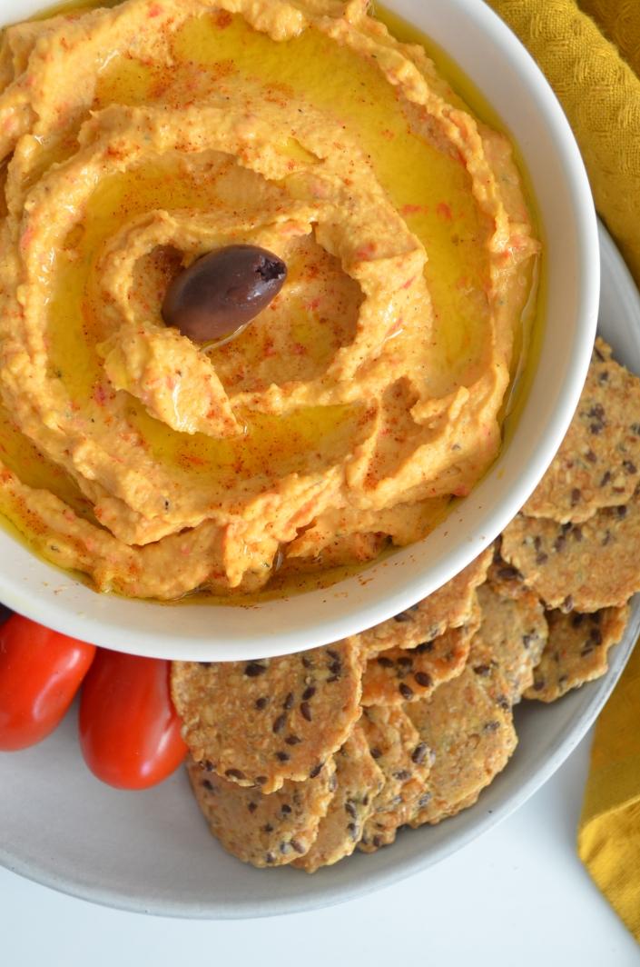 Red Bell Pepper Hummus