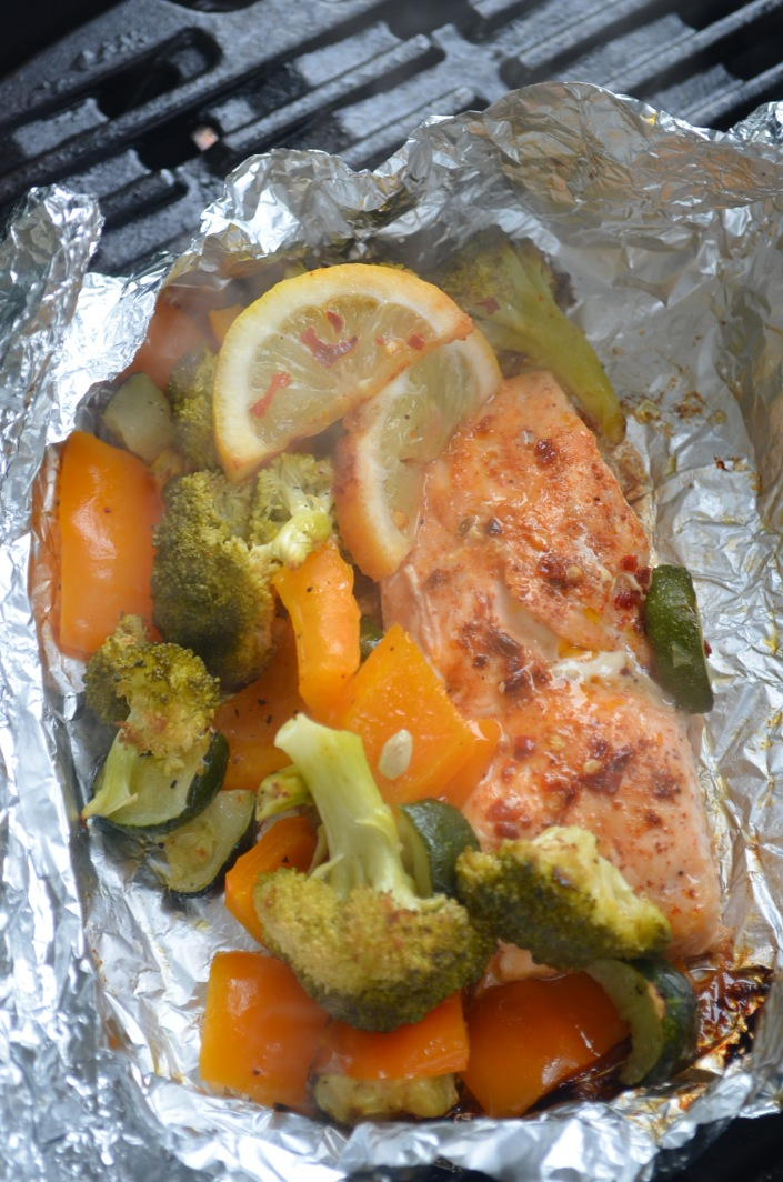 Salmon Foil Pack For Two