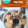 Chocolate Chip Peanut Butter Mug Cake2