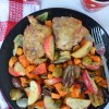 Pan Sheet Veggies and Chicken Dinner