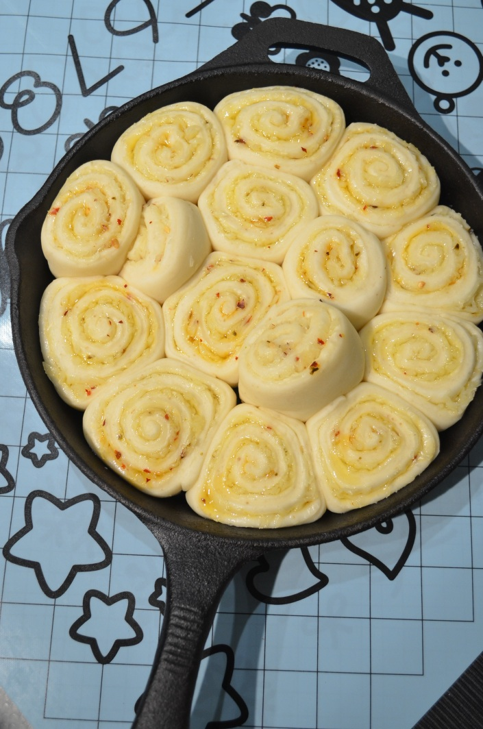 Skillet Cheese Rolls