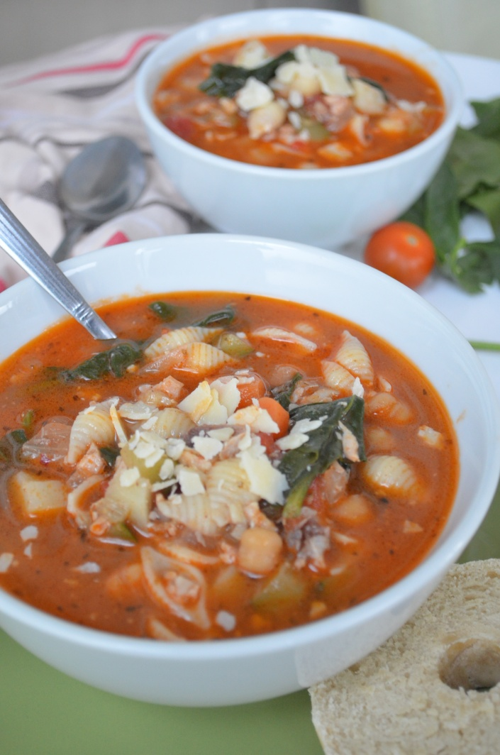 Minestrone Soup with Pasta
