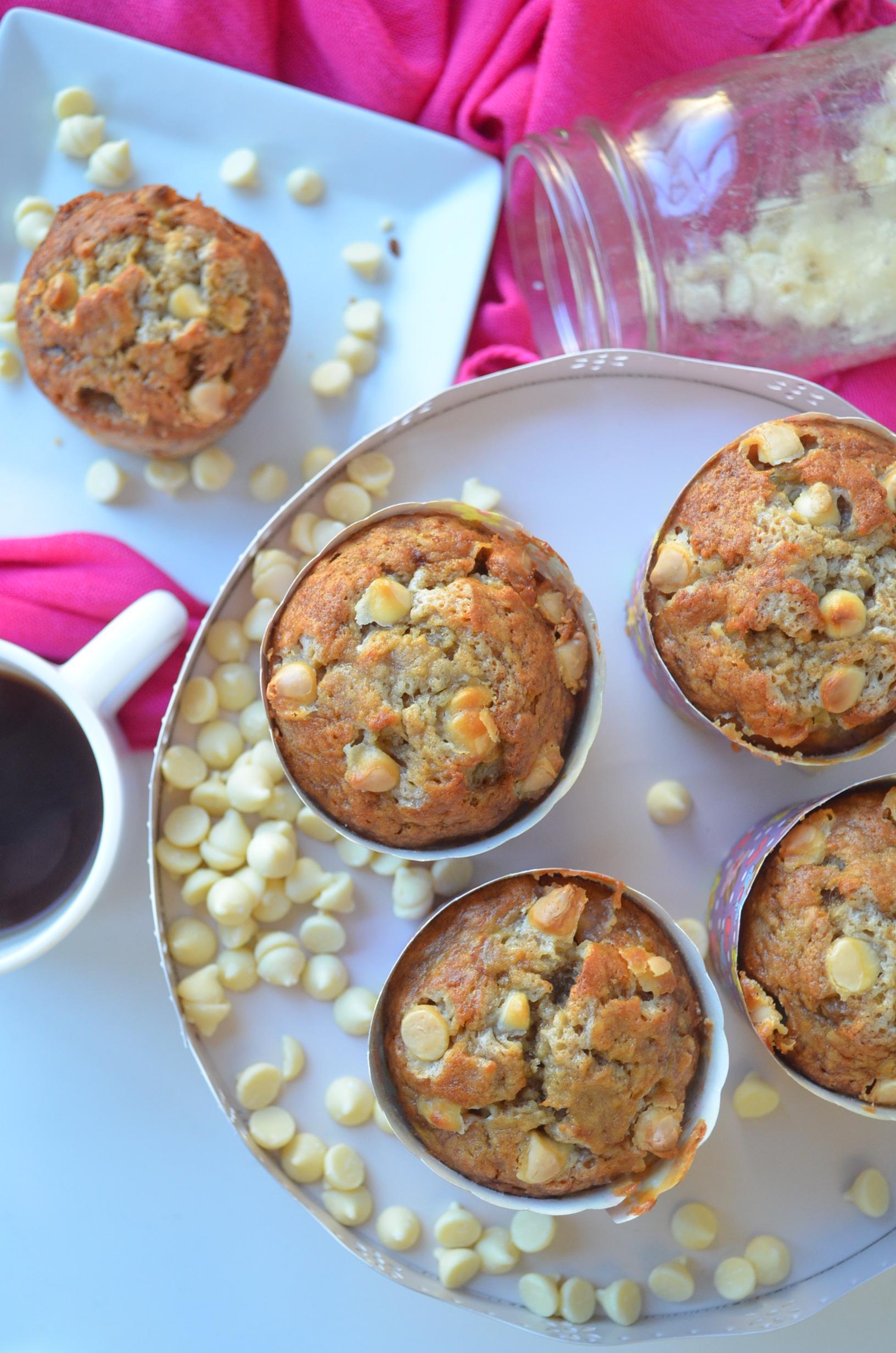 White Chocolate Chips Banana Muffins Recipe