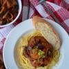 Eggplant Caponata Pasta  at SweetnSpicyLiving.com