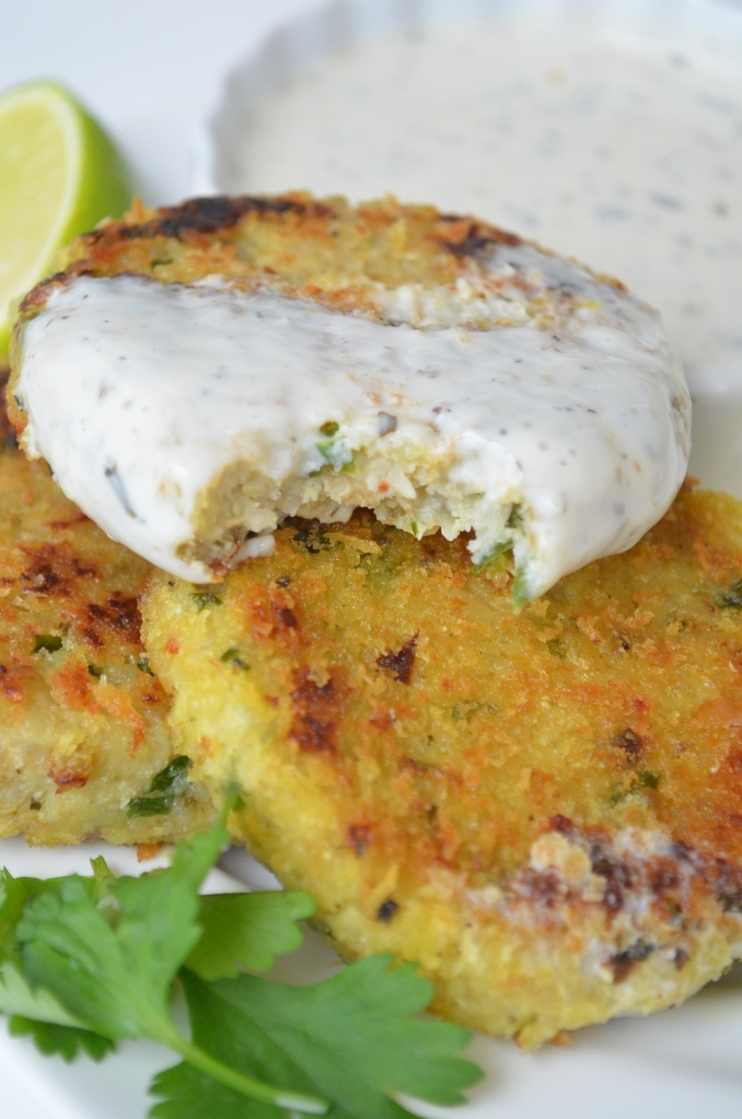 Cauliflower and Quinoa Fritters at SweetnSpicyLiving.com