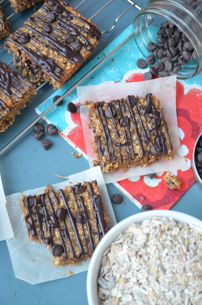Banana Oats Chocolate Chip Bar Recipe