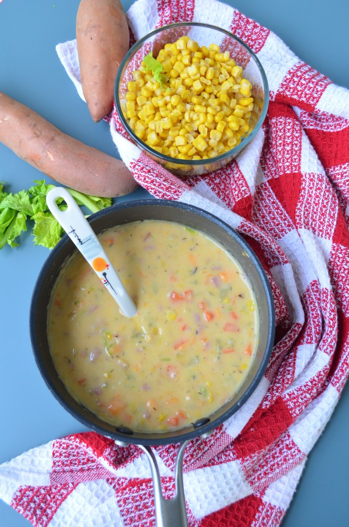 Creamy Sweet Potato Corn Chowder