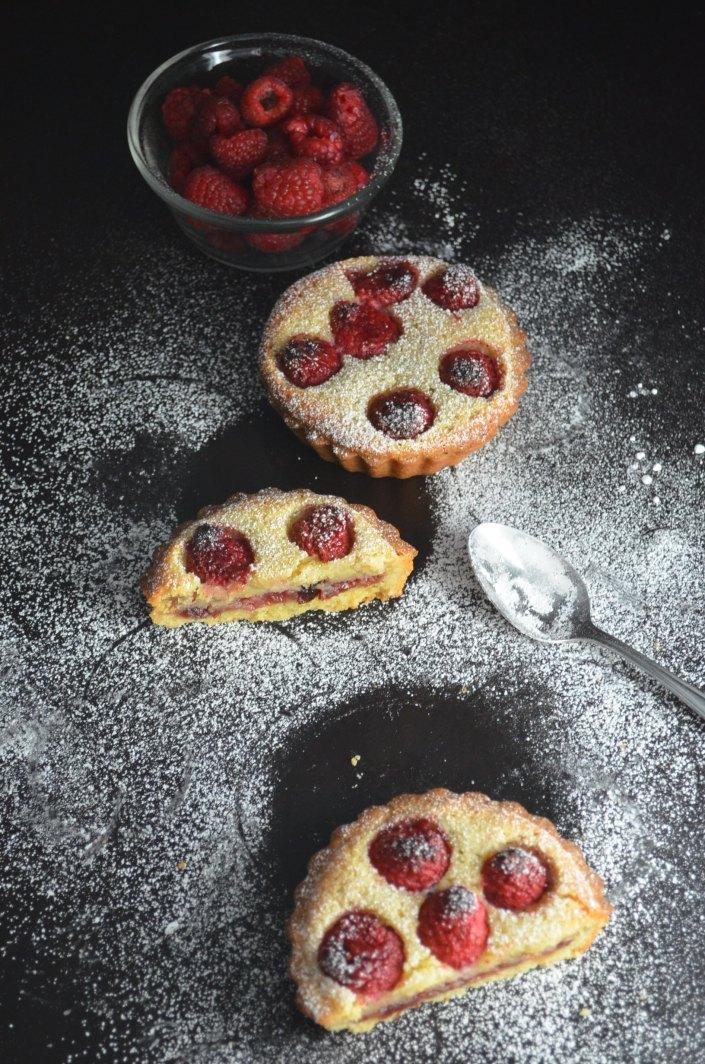 Mini Frangipane Raspberry Tart