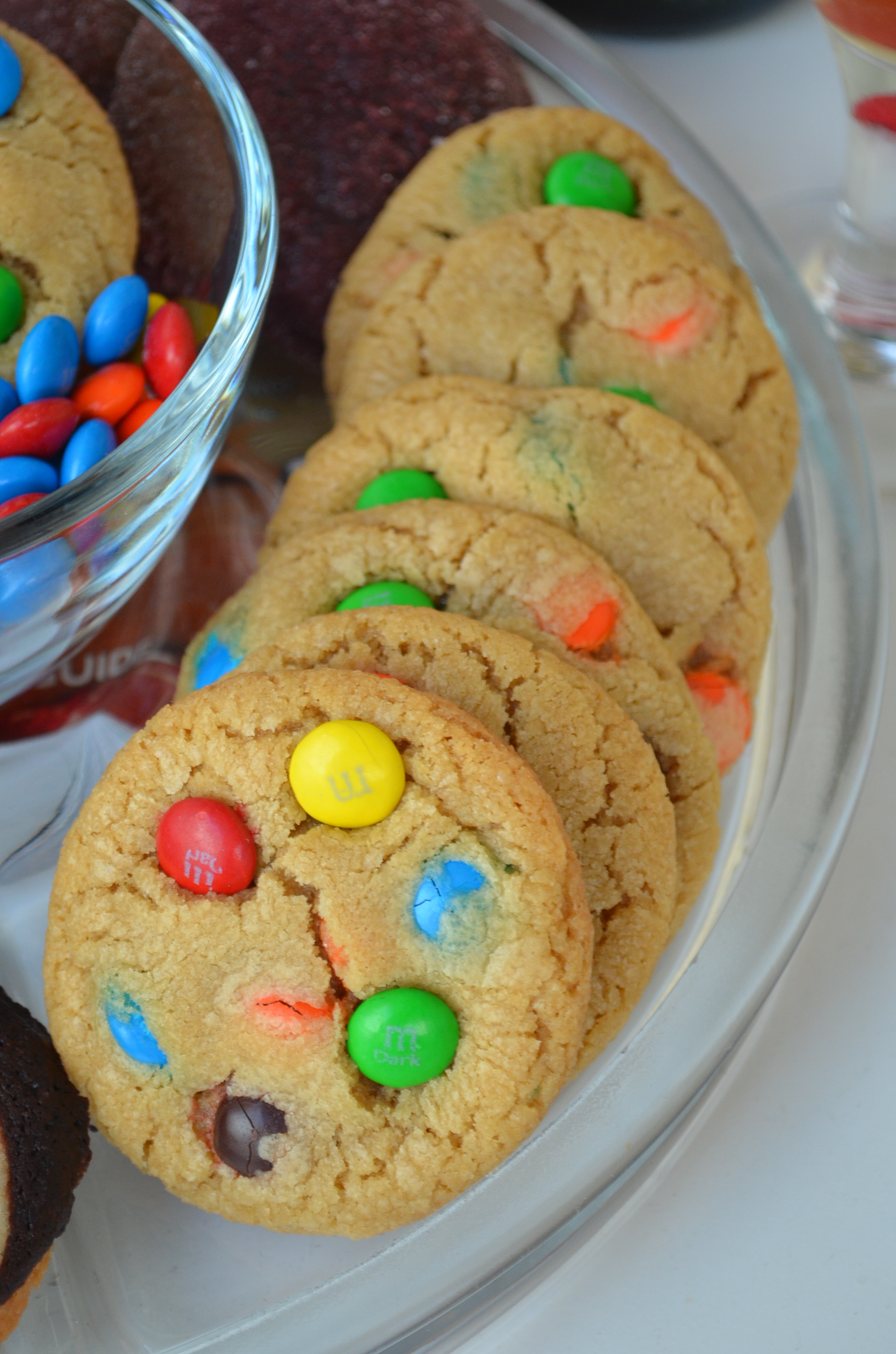 M&M Cookie Platter
