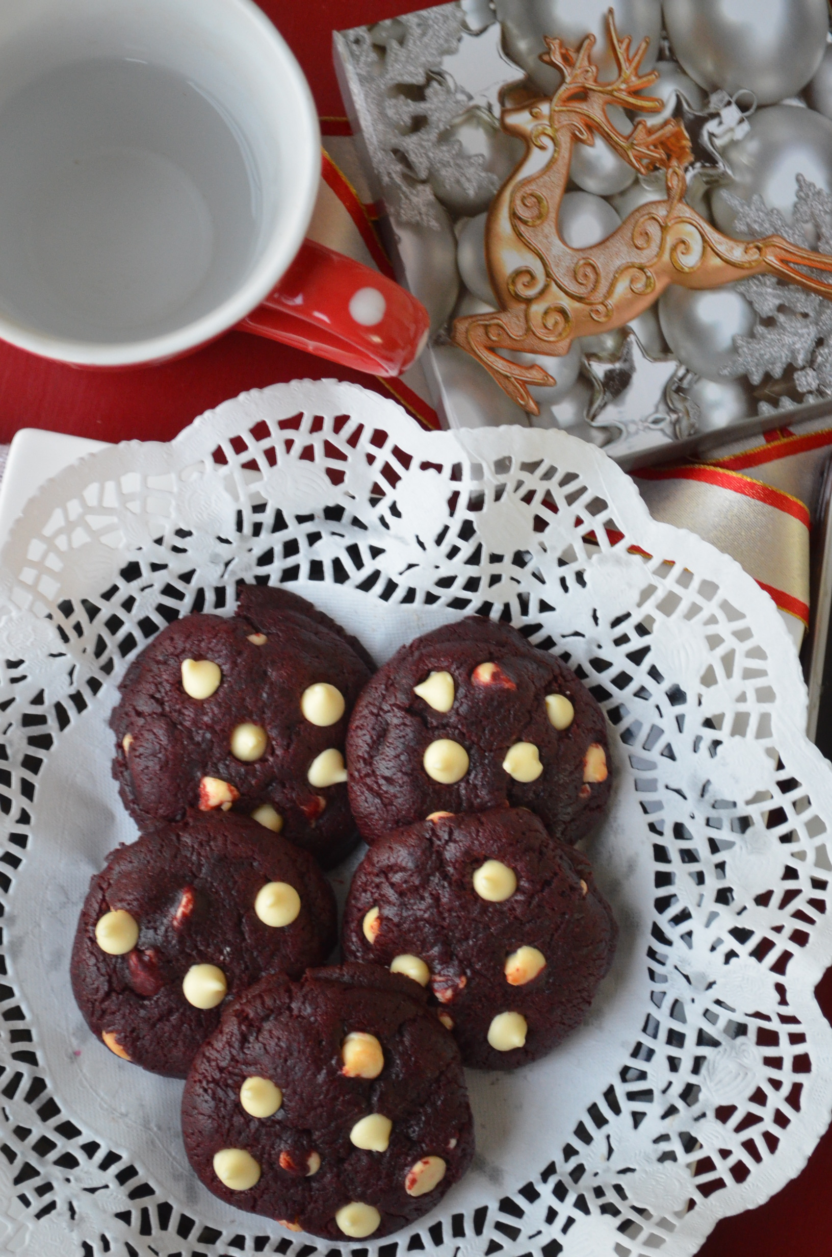 Red Velvet White Chocolate Chip Cookie