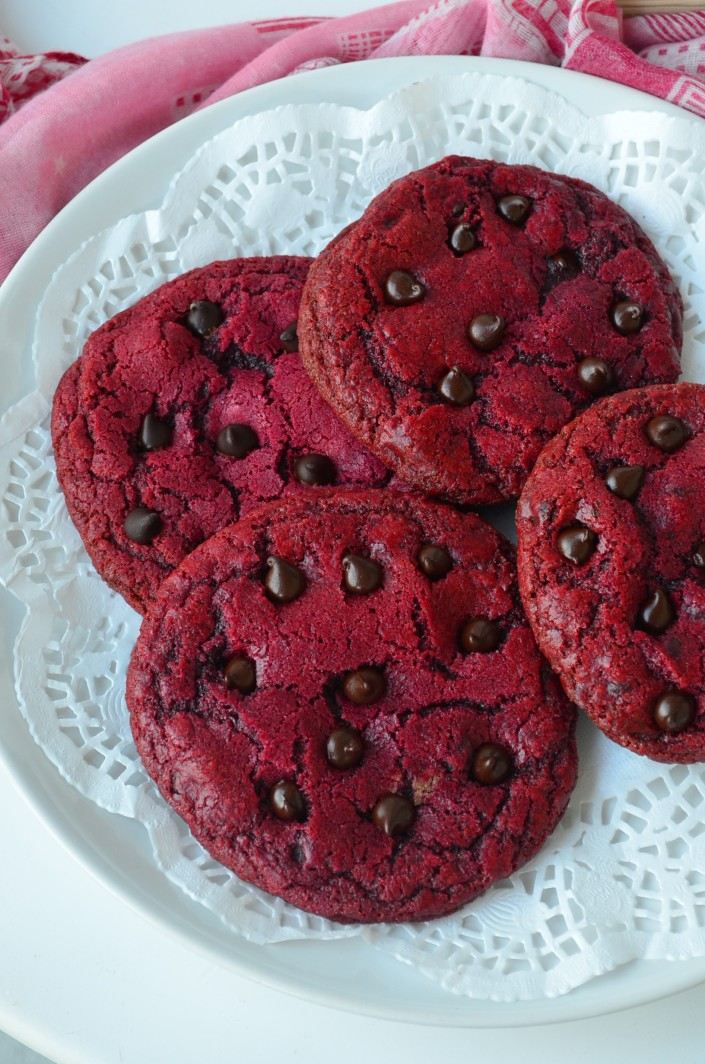 Small Batch Red Velvet Cookie
