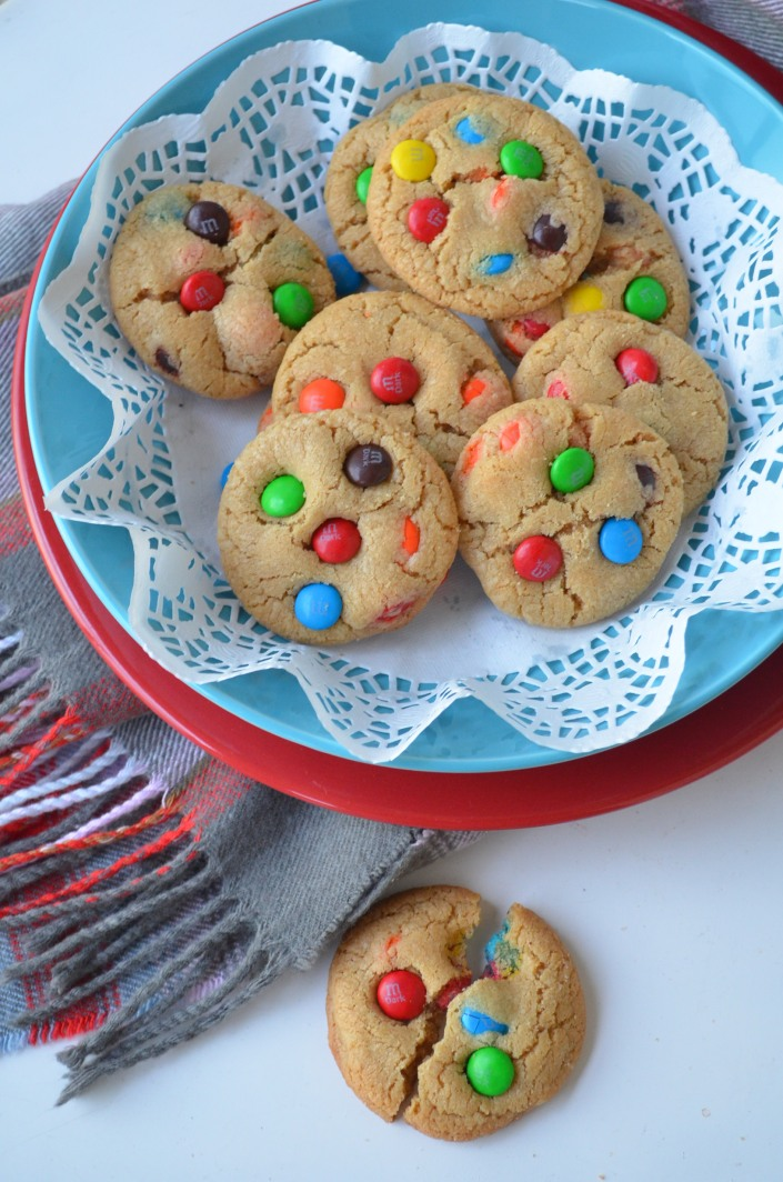 Soft and Chewy MM Cookies